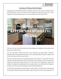 Kitchen Designer Skills Advantages Of Hiring A Kitchen Designer By Powers Design
