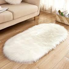 soft faux fur fluffy area rugs for bedroom living room bedside gy rugs floor mat 6cm hair anti slip nursery carpet white carpet tiles design carpet