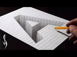 very easy drawing 3d letter t trick art with graphite pencilarker vamosart you