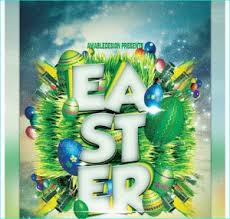 Easter Flyer Template For Easter Bash, Church Events