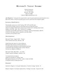 Qa Resume Objective Best of Experience For Resume Examples Resume Experience Sample Tester