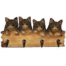 Cat Coat Rack Hand Carved Wooden Cat Amazon 53