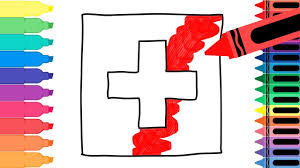 How to Draw Switzerland Flag - Drawing the Swiss Flag - Coloring ...