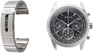 Wena Pro by Sony - Smart Strap for Watches with Contactless Payment,  Notifications and Activity Tracking, Silver Stainless Steel + Wrist Solar  Head (Chronograph), Silver : Amazon.co.uk: Electronics & Photo