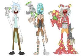 Rick And Morty Designs Artstation Rick And Morty Designs Andrew Losq