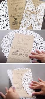 50 unique diy wedding invitation ideas hi miss puff Easy Handmade Wedding Invitations rustic doilies diy winter wedding invitations easy diy wedding invitations