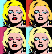 four colours marilyn monroe pop art painting on canvas one piece to