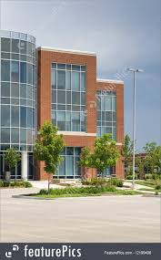 modern office architecture. Office Architecture: A Modern Building In Blue Glass And Red Brick, With An Architecture S