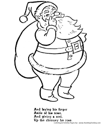 Character Coloring Pages The Nightmare Before Christmas Night And