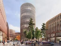 contemporary office buildings. MVRDV Reveal Fabryczna Offices, A Contemporary Office Building In The New City Centre Of Łódź Buildings