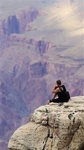 809 4 colorado grand canyon lonely man mountain top iphone 5 s c se