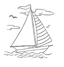 Coloring Page Boat