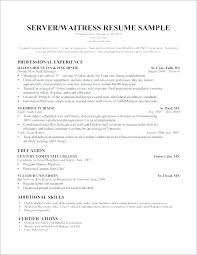 waitress sample resume sample resume waitress server for restaurant samples objective