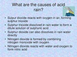 ppt global issues ozone depletion global warming and acid rain  what are the causes of acid rain