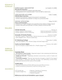 Sample Graphic Design Resume Reference Interior Experience