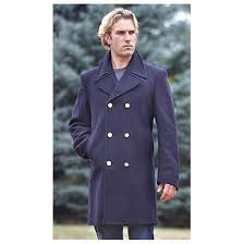 new italian military surplus navy dress peacoat