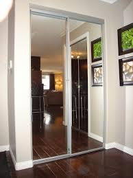 Mirrored Bifold Closet Doors Without Bottom Track • Closet Doors