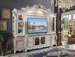 gold tv entertainment center wall unit