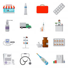 Vector Design Pharmacy And Hospital Icon Set Pharmacy And