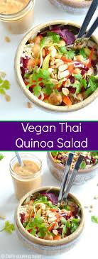 Vegan Thai Peanut Quinoa Salad Gluten Free Dels
