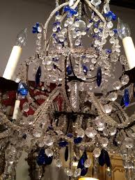 venetian murano crystal and cobalt blue chandelier for 3