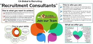 recruitment consultant cv work for ca global as a recruitment consultant