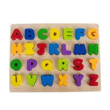 gybber mumu alphabet letters wooden puzzle upper case