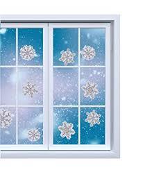 Fensterbilder Set Fensterdeko Schneeflocken Design Für Winter Und Weihnachten In Glitzer Selbstklebend 28 Aufkleber Von Tk Gruppe