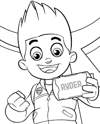 Ryders Portrait To Color Free Printable Coloring Sheet
