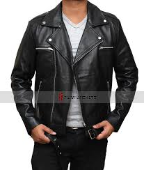 the walking dead negan jacket negan black leather motorcycle jacket