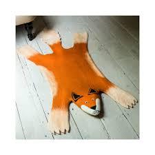 finlay the fox felt animal rug