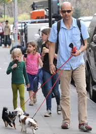 Anthony Edwards Anthony Edwards And Daughters Take Dogs For A Walk Moms Babies