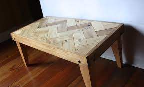 Rustic Pallet Coffee Table - Herringbone Design -(chevron, Zigzag) - Sanded  and