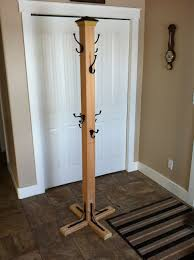 Stand Up Coat Rack Coat Tree 100 100x100 Post 100 Hooks One Fence Topper 100 Shelve 3