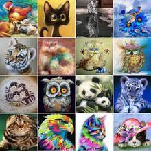 <b>Diy 5d алмазная</b> картина животное круглая <b>Алмазная</b> мозаика ...