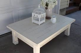 Coffee Table, Simple Grey Rectangle Wood Shabby Chic Coffee Table Design As  The Furniture Of ...
