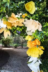 Paper Flower Archway Diy Giant Paper Flower Arch One Little Minute Paper