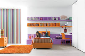 orange bedroom furniture. minimalist girls room design with purple and bright orange furniture bedroom o