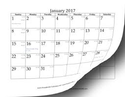year calender printable 2017 calendar with day of year and days remaining in year