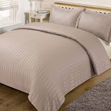ords satin stripe quilt duvet cover with pillowcase