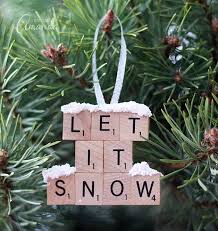 Decorating Tiles Crafts Scrabble Tile Ornament Let It Snow 51