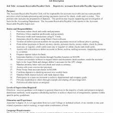 Cover Letter Accounts Payable Job Description Image Resume Example
