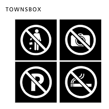 No Smoking Signage Acrylic No Smoking Signage Plate No Parking Sign Wall Sticker No