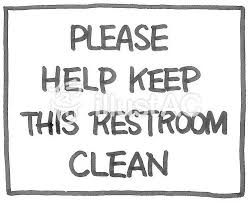 トイレを清潔にしてね の英語表示イラスト No 908748無料イラスト
