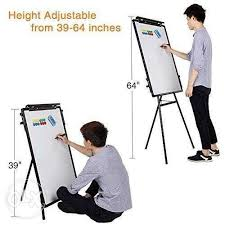 Flip Chart Writing Magnetic Board Easel Stand With Pen
