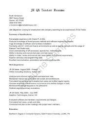 Software Tester Resume Sample Quality Assurance Tester Resume