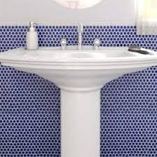 bathroom floor tile blue. SomerTile 12x12.625-inch Penny Cobalt Blue Porcelain Mosaic Floor And Wall Tile ( Bathroom