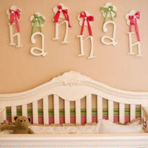 1pink and green nursery pictures