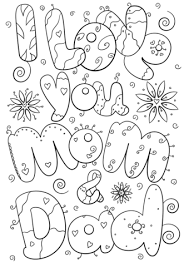 i love you mom and dad coloring page