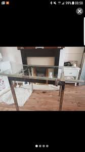 used ikea glivarp glass extendable dining table in lu3 luton for 30 00 shpock